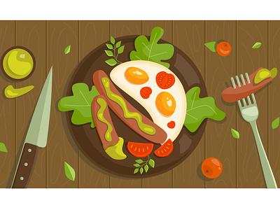 Yammy illustration food breakfast