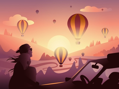 indie band album cover - I album cover indie rock lumineers lovers couple sunset travel balloon illustration