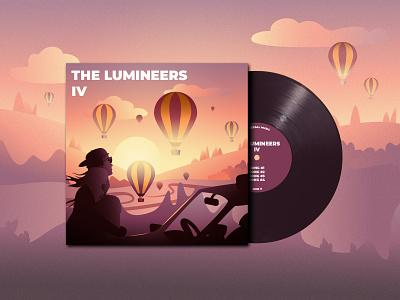 indie band album cover - II indie rock lumineers indie vinyl cover vinyl illustration album cover