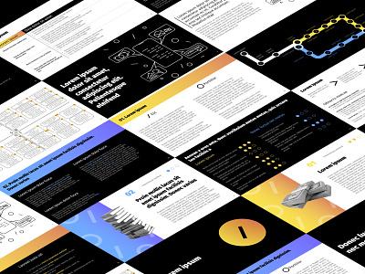 Presentation Design (blue & yellow) graphic design graphicdesign study digest research data visulization reports and data report design report presentation template presentation design presentation