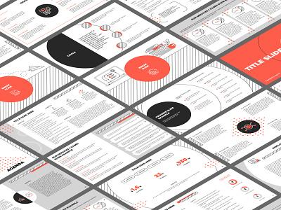 Presentation design (orange, black & white) branding shapes flat simple minimal report design report keynote pptx ppt slides presentation design presentation template presentation