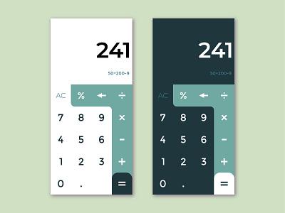 Calculator UI clean mobile app vector ux minimal ui flat design dailyui