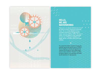 Waterworks, brochure branding water logo design graphicdesign