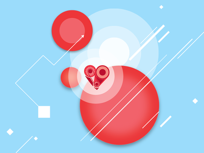 Maze of Heart microsoft kinect game flyer live heart pattern illustration