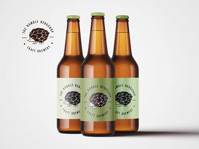 The humble HEDGEHOP Craft Brewery brand identity minimal illustration art illustration vector typography branding logo