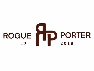 ROGUE PORTER logo desinger illustration illustrator illustration art brand identity typography minimal vector design logo