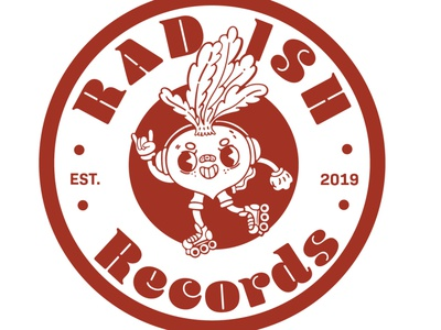 Rad-ish Records logo design desinger typography design illustration art illustration illustrator branding vector logo
