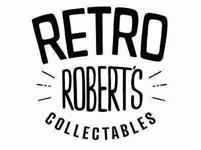 RETRO ROBERTS desinger logo design typography brand identity design vector icon illustration art logo branding