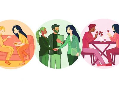 Hazelwood Counselling promotional illustration promotional design editorial art editorial illustration adversiting vector branding illustration art illustration design illustrator