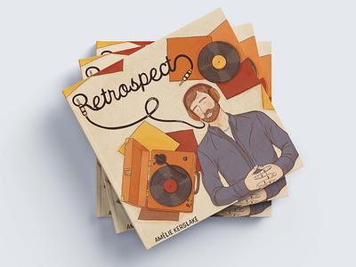 RETROSPECT book cover illustration book cover art book illustration graphic novel illustrations illustration art illustrator illustration