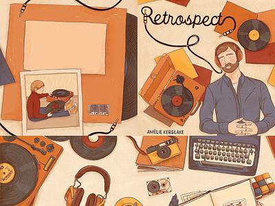 RETROSPECT graphic novel typography book illustration illustrations illustration art illustration illustrator