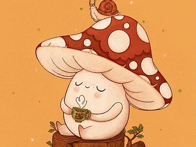 Marshal the Mushroom childrens illustration childrens book illustration childrens books book illustration illustrations design illustration art illustration illustrator