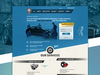 Landing page for Art Garage autoservice