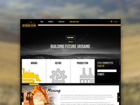 Cement factory project webpage
