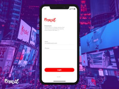 Login Screen design uxui app login