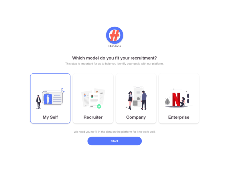 Hub Jobs premium adobe xd ui design