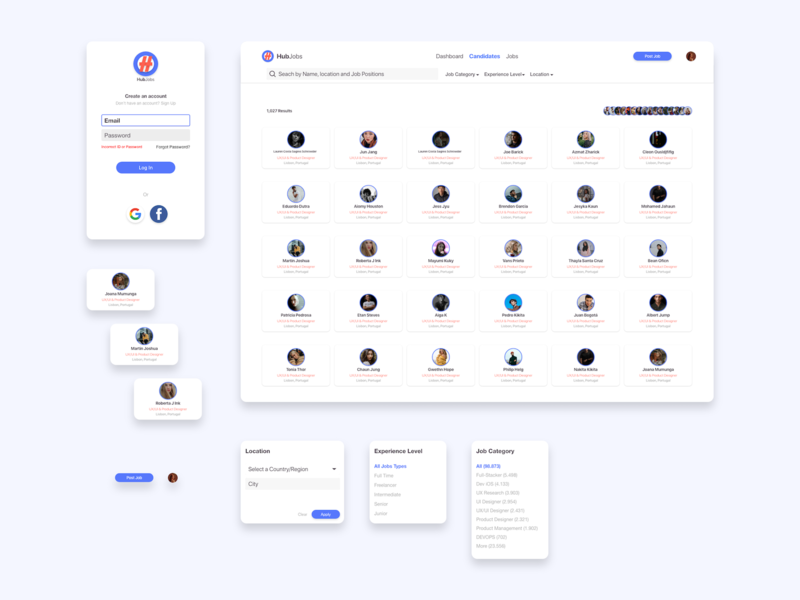 Hub Jobs - Design elements uidesign ui ux design elements