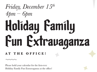 Holiday Party typography print design holiday poster holiday party