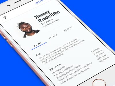 Profile Concept for Mindless App for Musicians ui profile ui app  profile