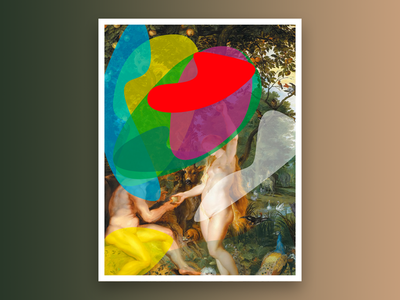 After The Garden of Eden with the Fall of Man religious even adam adamandeve digital painting
