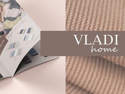 Development of catalog design for VLADI typography branding vector illustration prints textile print plaids home fashion catalog design fabric design catalog brochure