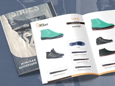 Ideal Plast catalog design fashion magazine photography print graphic design catalogshoes shoes catalog typography logo icon branding vector illustration design