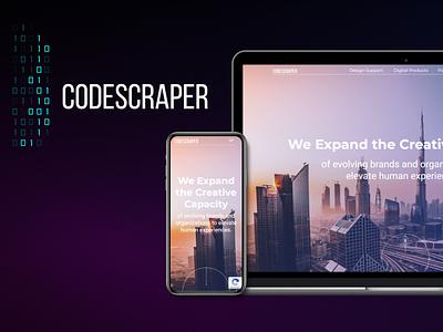 Website development Codescraper ux icon logo typography ui app website site branding vector illustration design figma