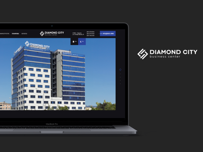 Website development for Diamond City graphic design 3d develo website site app ux ui typography logo icon branding vector illustration design