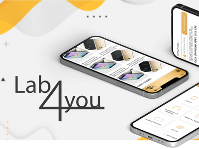 Application development for Lab4you onlineshop shop application development web application mobile design app ux ui