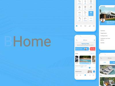 Application development for BHome mobile application web home application development ui ux app design