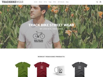 Track Bike Wear - Shopify Store shopify website-design