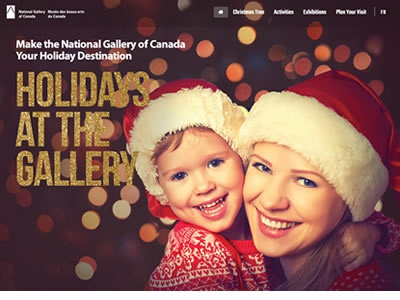 Holiday Micro site website-design