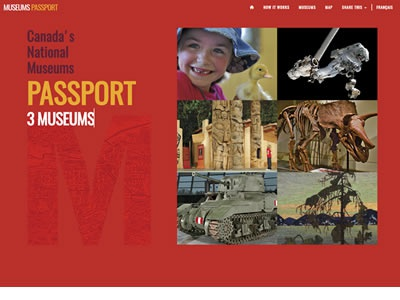 Canada's National Museums Passport Website website-design