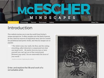 M.C Escher Exhibition Microsite website-design