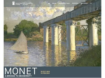 Monet Exhibition Microsite website-design