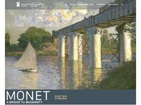 Monet Exhibition Microsite