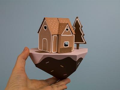 Gingerbread house  handmade paper papercraft paperart