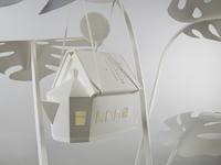 "Detail of paper sculpture ""Plant Life"""