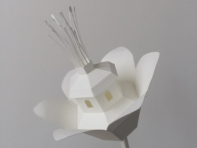 Paper Flower craft handmade papercraft miniature architecture paper flower