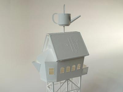 Plant Lullabies papercraft craft model handmade white architecture paper