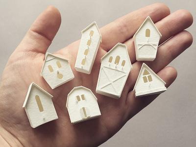 Bird houses home house handmade miniature paper papercraft bird house