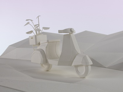 Vespa handmade craft scooter vespa sculpture paper