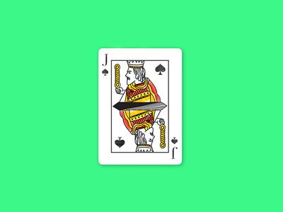 A Jack or Knave of Spades watercolor vector dribbblecommunity spade sword shots jack minimal illustrator playingcards cards illustration