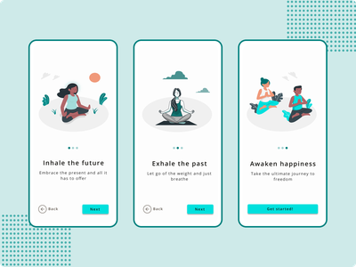 Onboarding Screen for a Yoga App meditation yoga app onboarding mobile app design