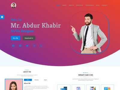 al-khabir-creative-portfolio-cv-resume-landing-page-template- illustration logo ux art vector website design ui typography branding