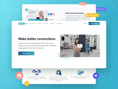 VMJ website refresh video marketing color landing page simple website minimal ux ui modern clean