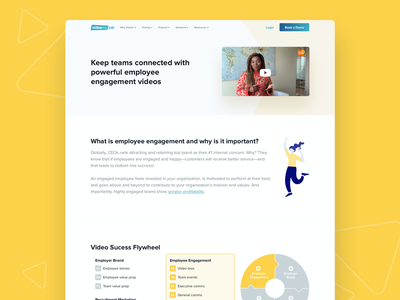 VideoMyJob Website -  Employee Engagement Solution Page illustration color landing page fun website minimal ux ui modern clean