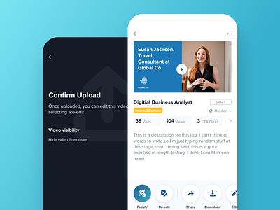Video Details Page video app design ui simple minimal ux modern clean