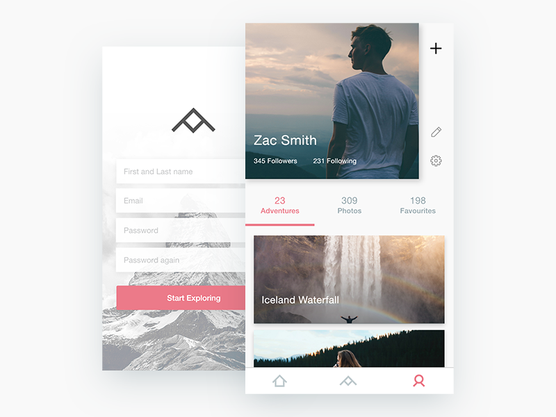 App design with Adobe XD by Sebastian Petravic on Dribbble
