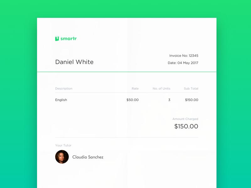 Smartr invoice